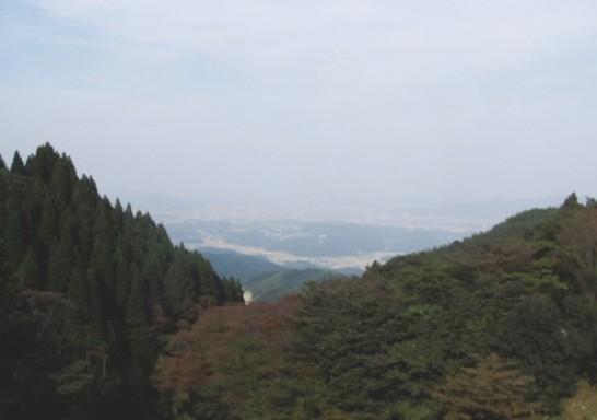 白糸滝からの展望 糸島平野